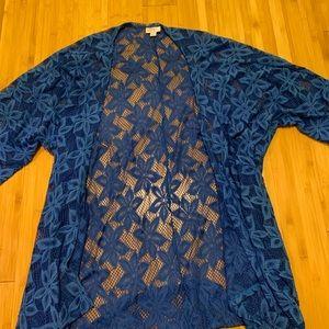 LulaRoe Blue Lace Lindsay Kimono